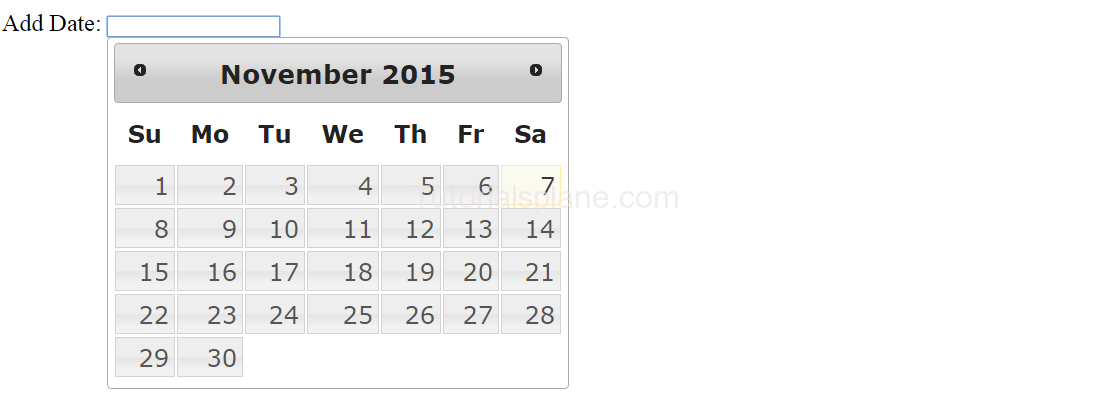 jQuery Ui Date Picker Example Demo