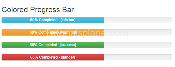 Bootstrap colored progress bar example