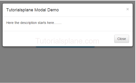Bootstrap Modal Plugin Code And Example