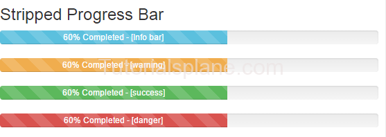 Bootstrap stripped progress bar example demo