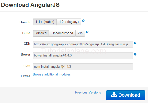 Steps to install angularjs