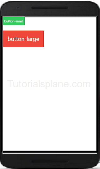 Ionic Button SIzes