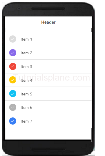 Ionic Colored checkbox example