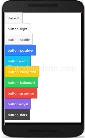 Ionic Buttons Example