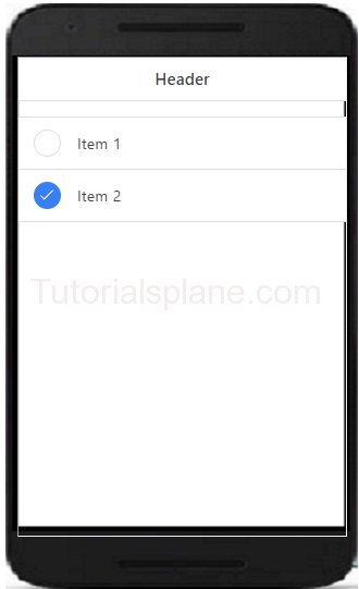 Ionic Checkbox Example
