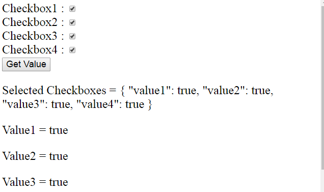 AngularJs Get Checkbox Value | Multiple Checkbox Value