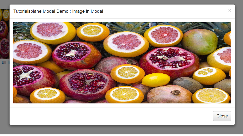 Bootstrap display image in modal