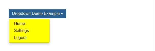 Bootstrap change Dropdown Menu Background Color Example